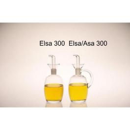 Aceitera Elsa 300 cl. tapón PTF con asa
