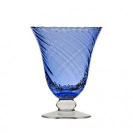 Copa Romantic Agua Rayada Cobalto Doblado