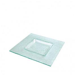 Plato Presentación Ártico Glass 31x31