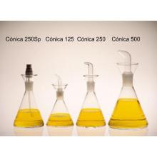 Aceitera Cónica 125 ml  con tapón ptf