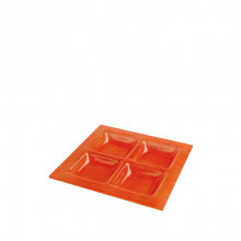 Plato Com Orange 23x23