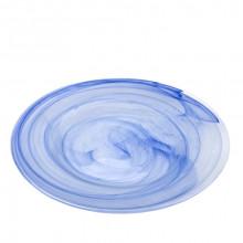 Plato presentación azul alabastro