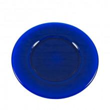 Plato presentación cobalto vitrificado 33 cms